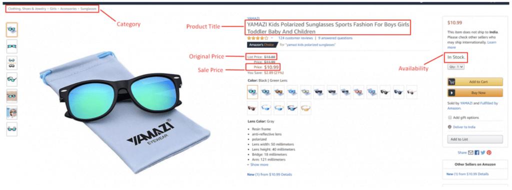 Extraction de données - scraper les produits Amazon